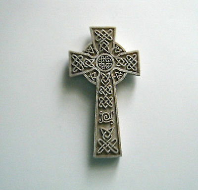 """Inspired By The Irish 4"""" X 7"""" Celtic Cross. Resin. New In Box. Ready To Hang"""