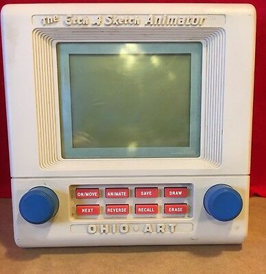 Vintage 80's The Etch A Sketch Animator Game Electronic Hand Held LCD Ohio Art
