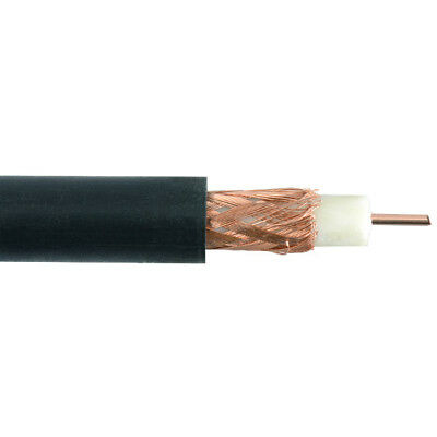 100m Drum Black RG59 Television TV Aerial Cable - ELEX/RG59