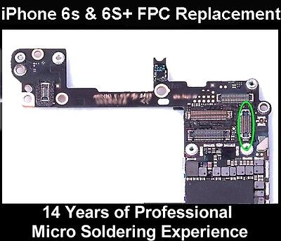 Apple IPHONE 6S & 6S+ Plus HOME BUTTON FPC CONNECTOR SOCKET Replacement Repair