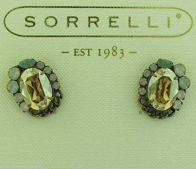 Sorrelli Rose water Earrings ECT23AGROW Antique gold tone