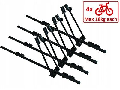 4 x Steel Cycle Carrier Roof Mounted Bike Bicycle Car Rack Holder 150cm