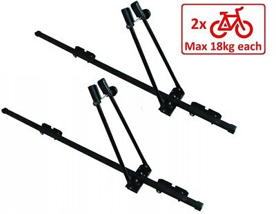 2 x Steel Cycle Carrier Roof Mounted Bike Bicycle Car Rack Holder 150cm