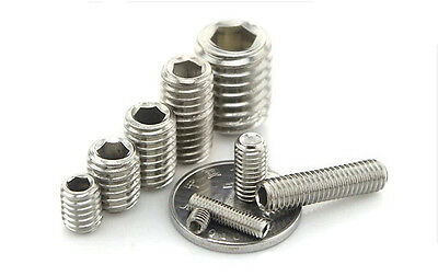 M1.6 M2 M2.5 M3 A2 Stainless Grub Screws Cup Point Hex Socket Set Screw Din 916