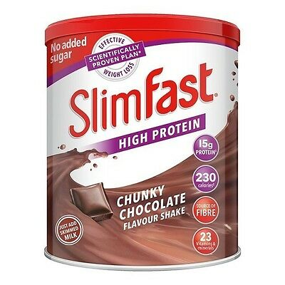 SlimFast Diet Powder Shake Chocolate Weight Lose Replacement Meal Milkshake Mix