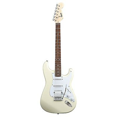 Squier Bullet Strat With Tremolo HSS Electric Guitar Arctic White Stratocaster