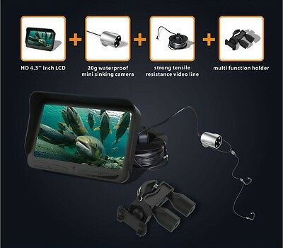 720P Underwater Ice Fishing Video Camera 4.3 inch LCD Monitor 6LED Night Vision