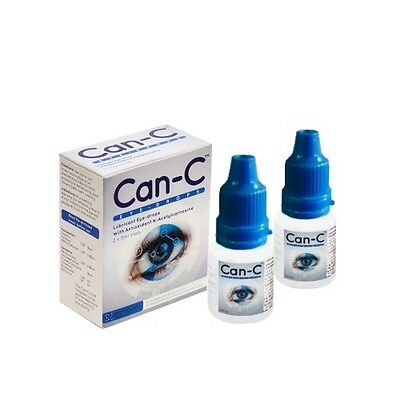 Can-c Eye-drops 2x5ml vials N-Acetylcarnosine Drops for Cataracts