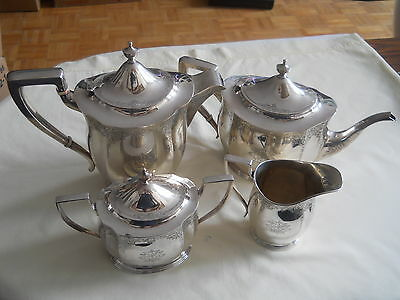 LARGE SIZE BIRKS STERLING 4 PC TEA SERVICE SET 2472g