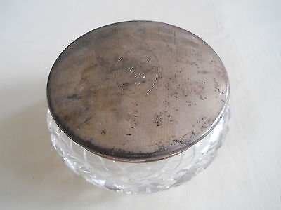 Birks Sterling Glass Vanity Dresser Jar
