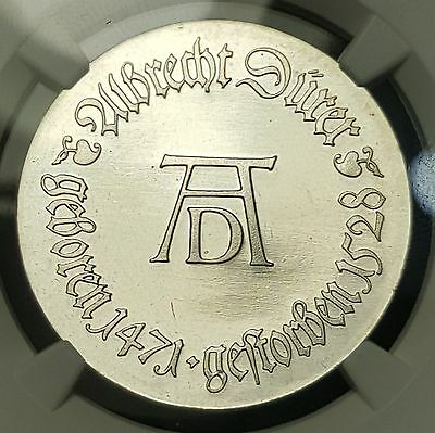 1971 Germay DDR 10 Mark KM# 31 Silver Coin NGC UNC Albrecht Durer