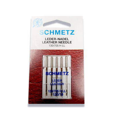 Schmetz Leather Needle Size 120/19 - Great for Denim, Leather, Suede Razor Edge