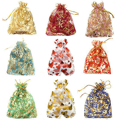 10-100pcs Organza Bag Jewelry Packing Pouch For Wedding Gift Bags New 10x12cm