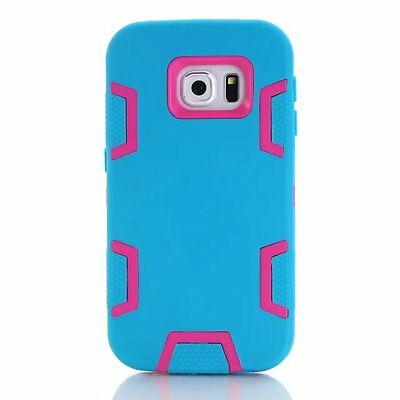 Blue/Hot Pink Shockproof Tough Hybrid Hard Cover Case For Samsung Galaxy S7 Edge