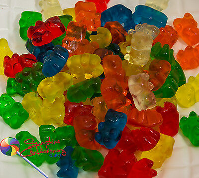 Gummi Bear Lollies - 1kg - (gummy bears) gluten free, Party Treats, Sweets