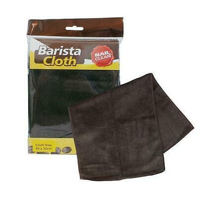 3x Barista Cloth Brown Microfibre 60x30cm Coffee Cleaning Latte Espresso Machine