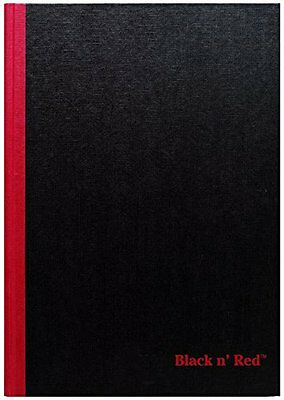 "Black n' Red Business Notebook Hardcover 11-3/4 x 8-1/4"" Black (D66174) NEW AOI"