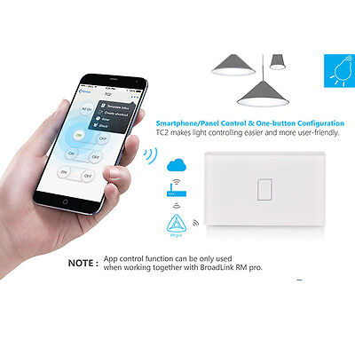 Wireless Home Security BroadLink TC2 Single Touch Automation Wall Light Switch