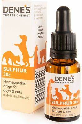 Denes Homeopathic Sulphur 30c 15ml Dog Cat Mammals Skin Allergies