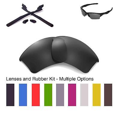 Walleva Lenses and Rubber Kit for Oakley Half Jacket 2.0 XL - Multiple Options