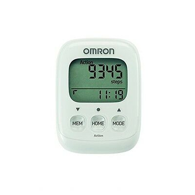 New Omron Walking Style IV Step Pedometer Activity Counter Tracker White HJ325Ew