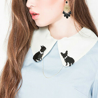 Double French bulldog Accessory Brooch Pin