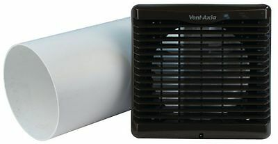 Vent Axia Brown Silhouette 150mm Wall Kit 454601 Extractor Fan With Pipe Kitchen