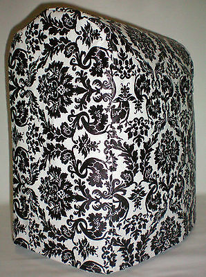 Black & White Vinyl Damask Kitchenaid 4.5,5,6qt Lift Bowl Stand Mixer Cover