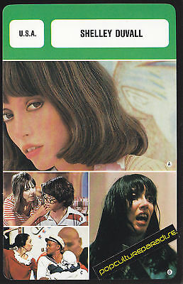 SHELLEY DUVALL Movie Star FRENCH BIOGRAPHY PHOTO CARD