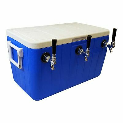 "Jockey Box Cooler - 3 Faucet, 5/16"" x 50' Stainless Steel Coils, 48qt Draft Beer"