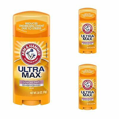 3 Pack - Arm & Hammer ULTRAMAX Anti-Perspirant Deodorant Powder Fresh 2.6oz Each