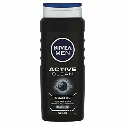 Nivea for Men body wash face and hair dermatological 500 ml, Pack of 6