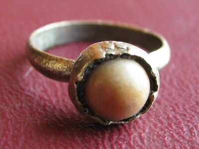 Ancient Artifact > 18th Century Bronze Finger Ring SZ: 5 US 15.75mm 14451 DR