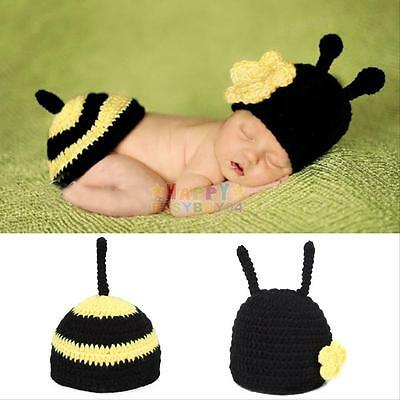 Newborn Boy Girl Baby Crochet Knit Costume Photography Photo Prop Hat Outfit