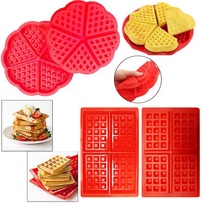 Silicone Mini Waffles Pan Cake Baking Baked Muffin Cake Chocolate Mold Tray DIY