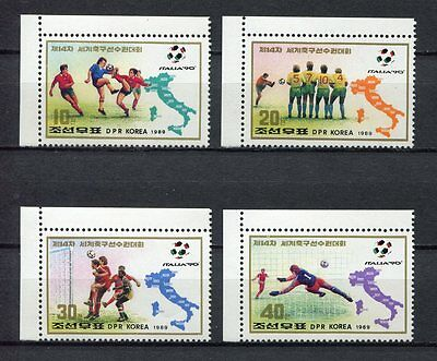 s6268) KOREA 1989 MNH** WC Football'90 - CM Calcio 4v.