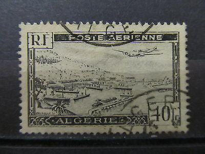 A1P17 ALGERIA AIR POST STAMP 1946 40fr USED