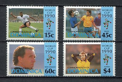 s6285) DOMINICA 1990 MNH** World Cup Football'90 - 4v.