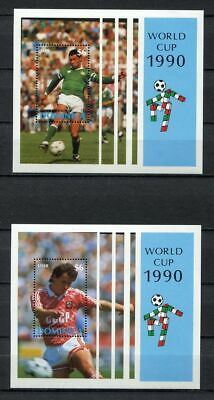 s6286) DOMINICA 1990 MNH** World Cup Football'90 - S/S.