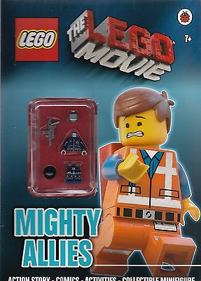 The LEGO Movie: Mighty Allies Activity Book With Collectible Minifigure New