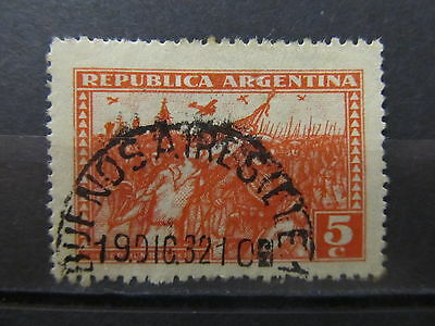 A1P17 ARGENTINA 1931 PERF 12 1/2X13 5c USED