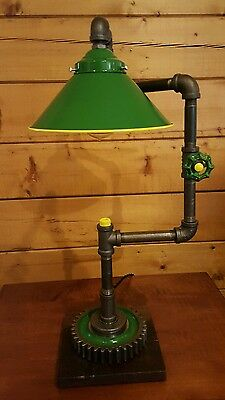 Custom John Deere Themed Lamp - Artistic Industrial John Deere Lamp