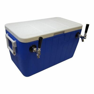 "Jockey Box Cooler - 2 Faucet, 3/8"" x 50' Stainless Steel Coils, 48qt, Draft Beer"