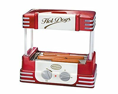 Hot Dog Roller Retro Series Grill Cooker Machine Sausage Counter Top Griller
