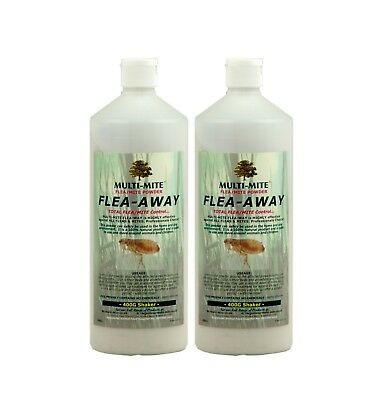 FLEA - AWAY Twin Pack 400G Shaker Bottles  - Flea Powder