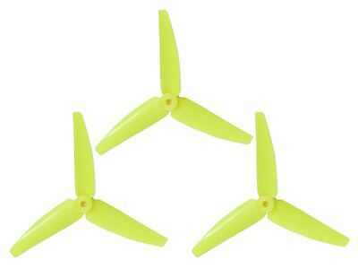 Lynx Blade Blade 200 SR X 230s Yellow 3 Bladed Tail Rotor -3 Pack LX3P200SRX-824