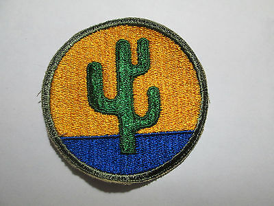 Original Vintage Ww2 Wwii U.s. Army 103Rd Infantry Division Patch Cut Edge