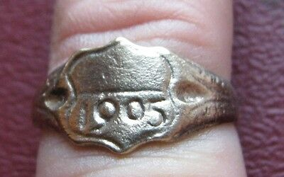 Antique Artifact > Bronze Finger Ring dated 1905 SZ: 7 US 17.25mm 14414 DR