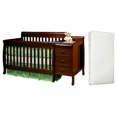 AFG Kimberly 3-in-1 Crib, Changer with Toddlerü - Espresso
