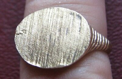 Antique Artifact > 19th Century Bronze Finger Ring SZ: 8 3/4 US 18.75mm 14409 DR